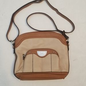 B.O.C. two tone brown crossbody purse bag
